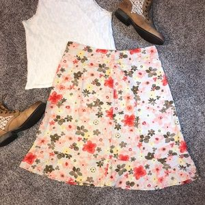 Christopher and banks ruffle flower skirt size 8